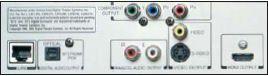 SCHNITTSTELLEN Neben HDMI ist der Komponenten-Ausgang für den Einsatz älterer Bildschirme die wichtigste Schnittstelle