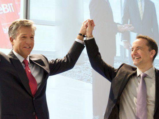 Bill McDermott und Jim Hagemann Snabe - die neue SAP-Doppelspitze