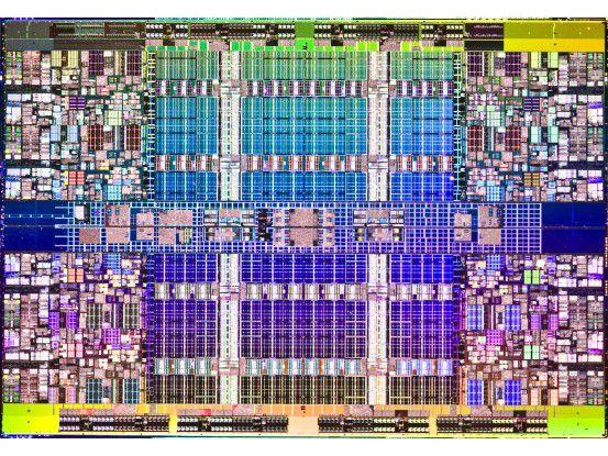 Ein Blick auf den Die des Xeon 7500