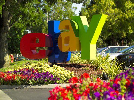 eBay-Logo bei der Firmenzentrale in San Jose, Kalifornien