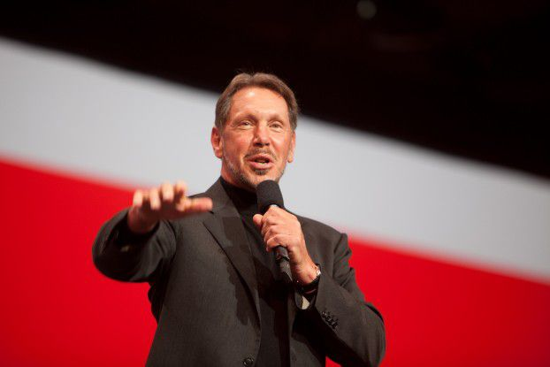 Oracle-Chef Larry Ellison auf der Hausmesse OpenWorld 2010