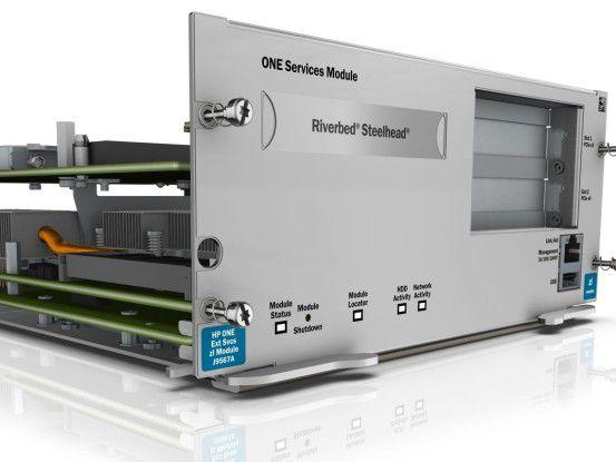 In der Branch Office Solution bündelt HP etablierte Systeme zu eine vorkonfigurierten Lösung, wie beispielweise den WAN-Beschleuniger Riverbed Steelhead.