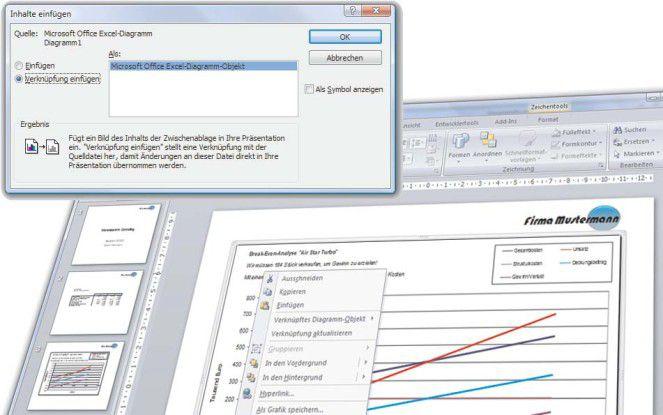 Tabellenbereich Oder Diagramm Mit Powerpoint Verknüpfen Profi