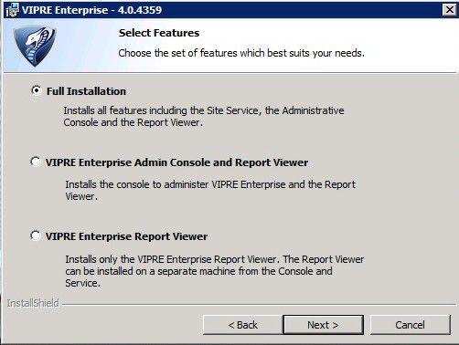 Der Report Viewer kann wahlweise zusammen mit der Konsole auf dem System installiert werden.