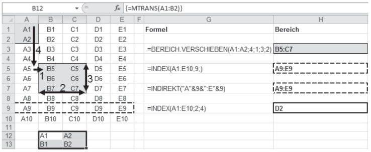 Beispiele zu den Bereichsrückgabefunktionen - Software ...