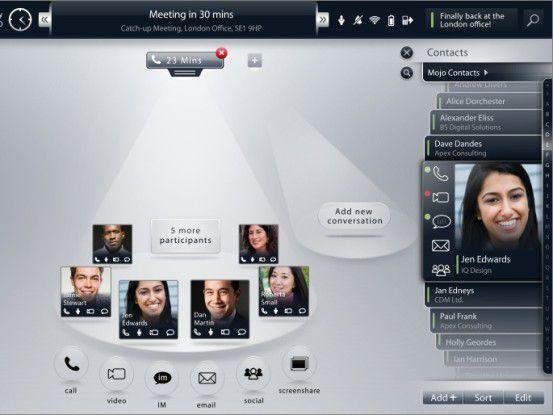 Videokonferenz gefordert? Kein Problem ein Fingerstreich über die Benutzeroberfläche genügt.