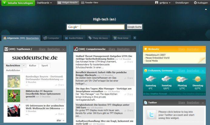Netvibes will die Weiten des Web in einem einzigen Dashboard vereinen.