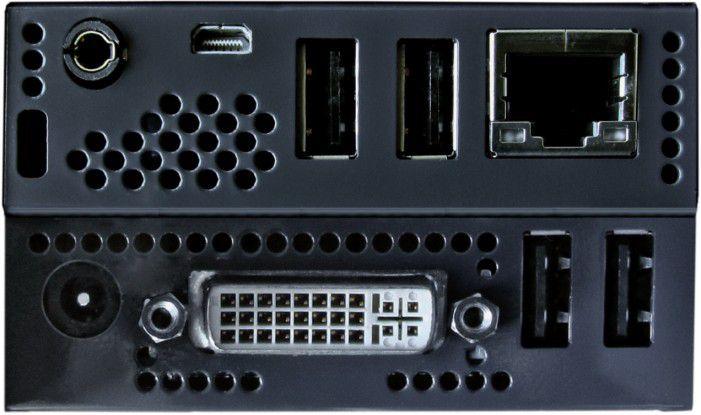 Zero Client (G2) - Rückseite mit Anschlüssen auch für Audio und USB-Geräte