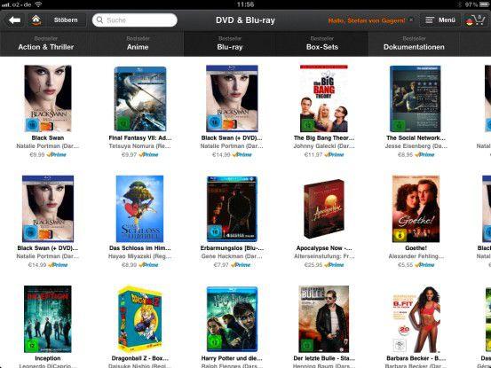 Auf dem iPad macht der SchaufenMedia Endesterbummel bei Amazon Spaß und die Bestellung gelingt einwandfrei.