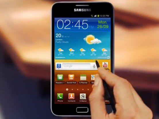 Das Galaxy Note von Samsung.