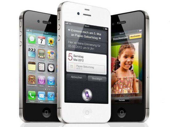Das iPhone 4S ist rein optisch vom Vorgänger iPhone 4 kaum zu unterscheiden.