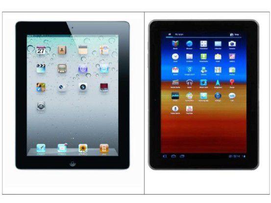 Gruppenfoto: iPad und Galaxy Tab 10.1 im direkten Vergleich