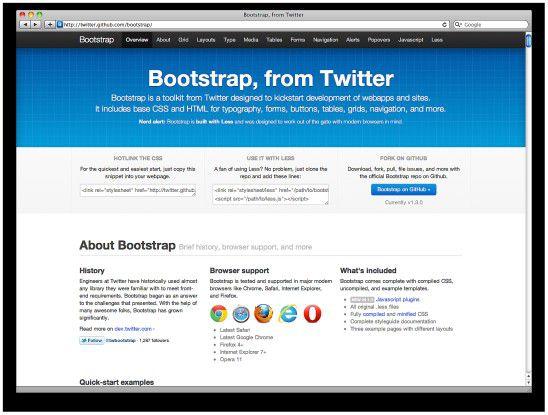 Des Web-Entwicklers Freund - Bootstrap.