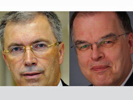 Erich Pfeifer, CIO bei der Universitätsklinikum Bonn und Dieter Moritz, CIO bei der Universitätsklinikum Köln.