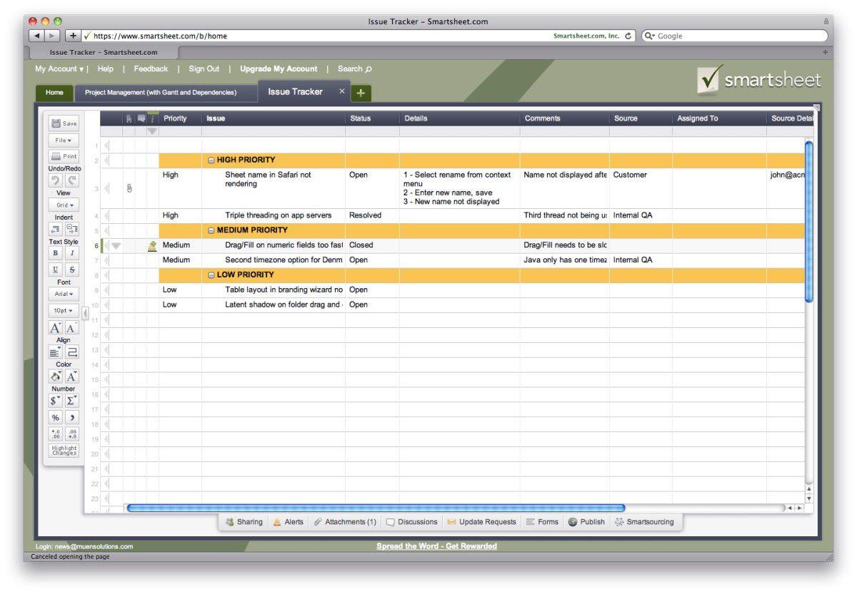 Kleine Helfer: Smartsheet - Projekt-Management auf Tabellenbasis -  computerwoche.de