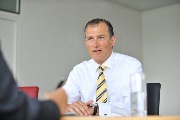 Hat ein Drittel der Führungsmannschaft abgebaut: Der Vorstandsvorsitzende Stefan Hansen.