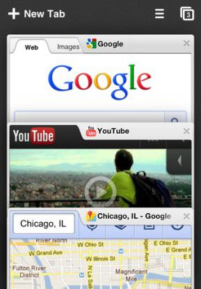 Chrome auf dem iPhone - leider mit JavaScript-Zwangsbremse...