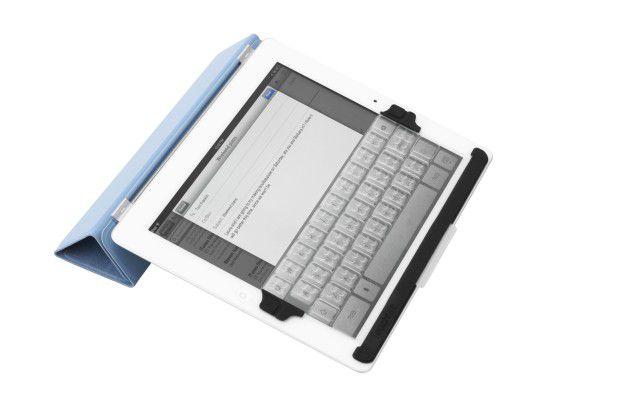 Die besonders leichte und dünne Tastaturauflage Touchfire ist eher eine Notlösung.