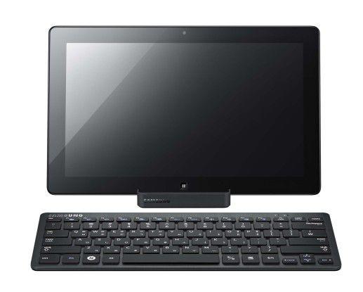 Samsungs Slate PC der Serie 7 bringt je nach Modellbezeichnung eine eigene Bluetooth-Tastatur gleich mit und kann somit auch als Hybrid-Tablet durchgehen, wenn auch als ein sehr leistungsstarkes mit Windows 7 und Core-i5-Prozessor der zweiten Generation.