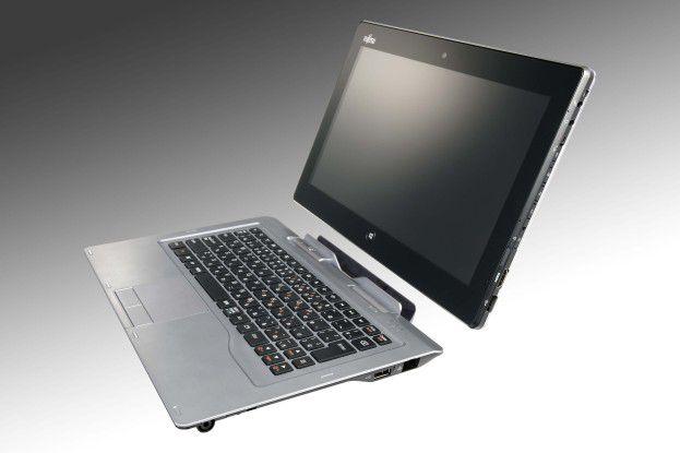Das Stylistic Q702 von Fujitsu zielt als Hybrid-Tablet mit abnehmbarer Tastatur, Windows 7 Professional, Security Features wie TPM-Modul und Intels Core-i3- oder Core-i5-Prozessoren in erster Linie auf Business-Kunden.