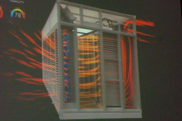 Die Luftführung in Microsofts IT-PACs sorgt für optimale Kühlung bei minimalem Energieaufwand und jeder Außentemperatur.