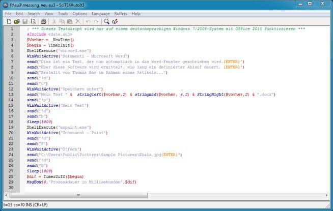 AutoIt 3 erlaubt dem Benutzer eine Automatisierung von Maus- und Eingabevorgängen. Besonders praktisch für Softwaretester.
