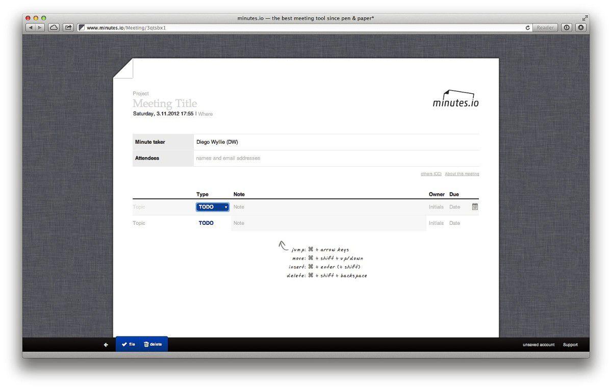 Kleine Helfer: Professionelle Meeting-Protokolle mit Minutes.io ...