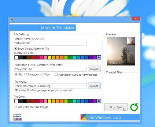 Der Anwender kann auch eigene Bilder verwenden, um so individuell gestaltete Kacheln zu erzeugen.