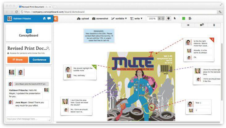 Teamarbeit effizient gestalten - mit Conceptboard.