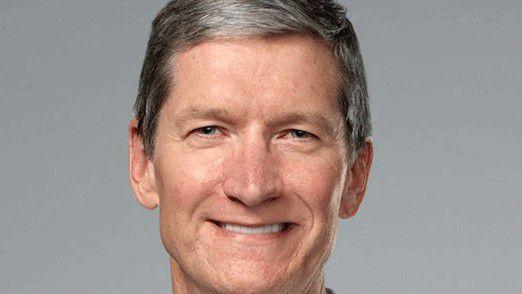CEO Tim Cook fühlt sich in der Chefrolle bei Apple offenbar immer sicherer.
