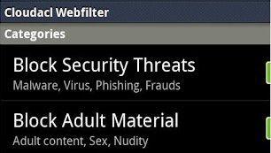 Bei mobilen Web-Filtern wie dem Cloudacl WebFilter lässt sich festlegen, welche Kategorien von Websites blockiert werden sollen.