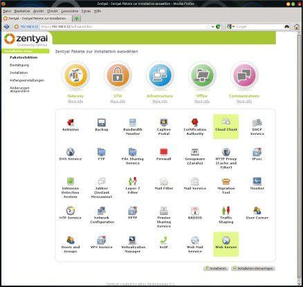 Zentyal bietet das mit Abstand größte Angebot an Software aus dem Canonical-Universum.