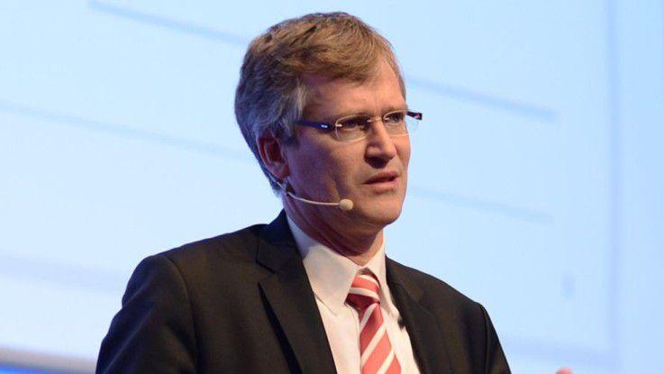 Jan-Gerold Winter, Managing Director & Head of PBC Germany IT bei der Deutschen Bank, sprach auf den Hamburger IT-Strategietagen.