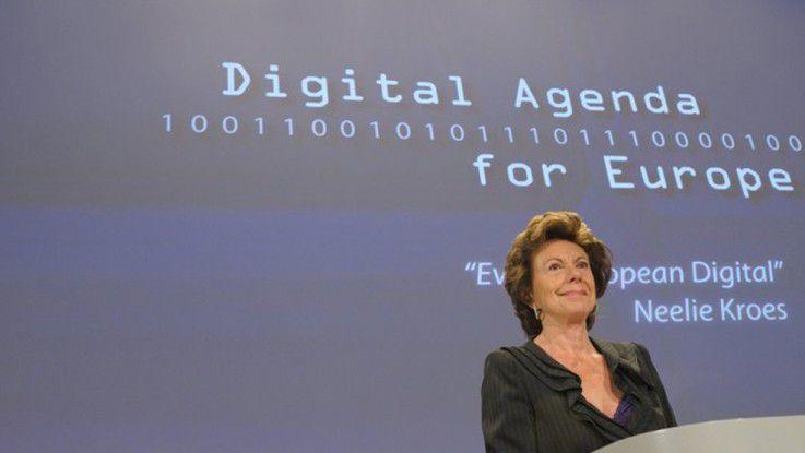 Mittelfristig will Neelie Kroes das Roaming in der EU ganz abschaffen.