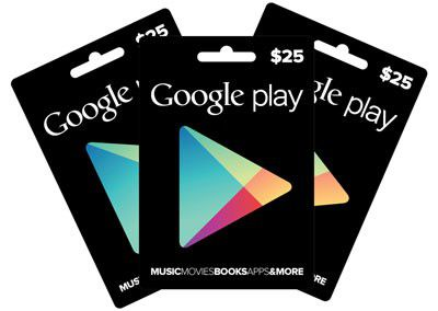In USA schon länger erhältlich: Google Play Gift Cards.