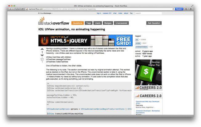 Softwareentwickler in der Sackgasse? Stack Overflow hilft.