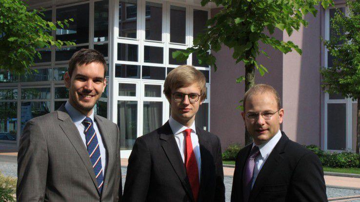 Erfolgreiche Jung-Gründer im Bereich Business Analytics: Martin Klenk, Alexander Rinke und Bastian Nominacher von Celonis.