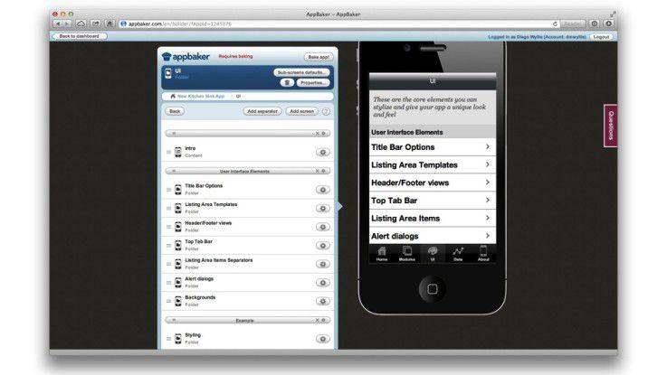 AppBaker ermöglicht die Entwicklung nativer iOS-Apps auf Basis offener Web-Standards wie HTML5, CSS3 und JavaScript.