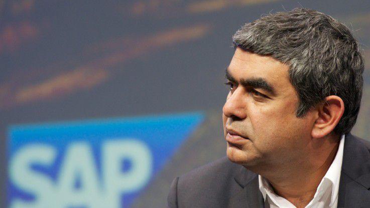 """""""Es ist der nächste große Schritt auf der HANA-Reise"""", SAP-Vorstand und Technik-Chef Vishal Sikka."""
