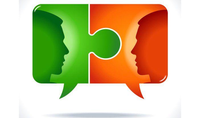 Corporate-Social-Media-Plattformen bieten eine ideale Bühne für den hierarchiefreien Wissensaustausch.