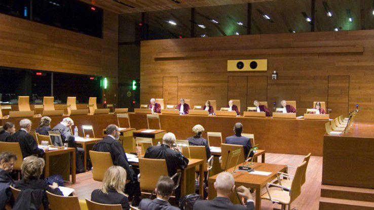 EuGH in Luxemburg, Blick in einen Sitzungssaal