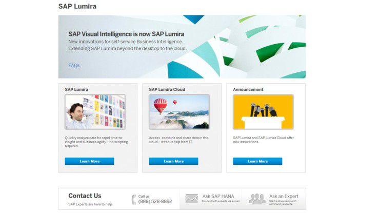 Lumira ist eine überarbeitete BI-Lösung von Visual Intelligence.
