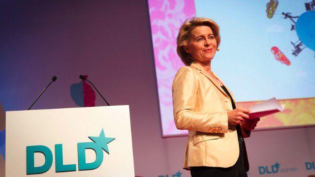 Ursula von der Leyen machte sich erneut für die Frauenquote stark.