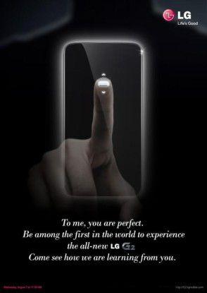 Schon die Einladung zum Launch-Event thematisiert die neue Lockscreen-Taste des LG G2