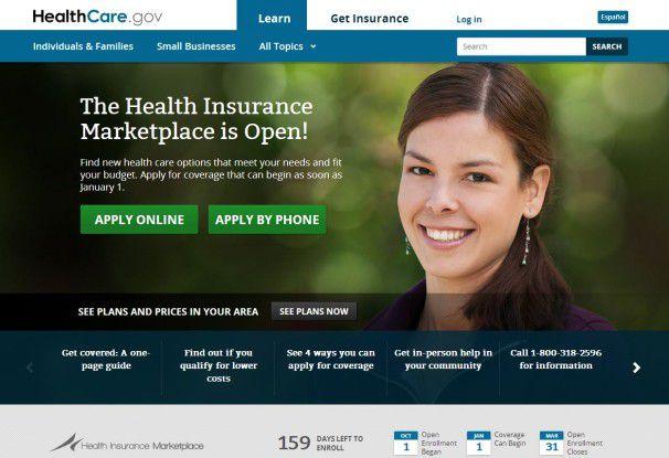 Die Website Healthcare.gov funktioniert nicht so, wie sie soll.