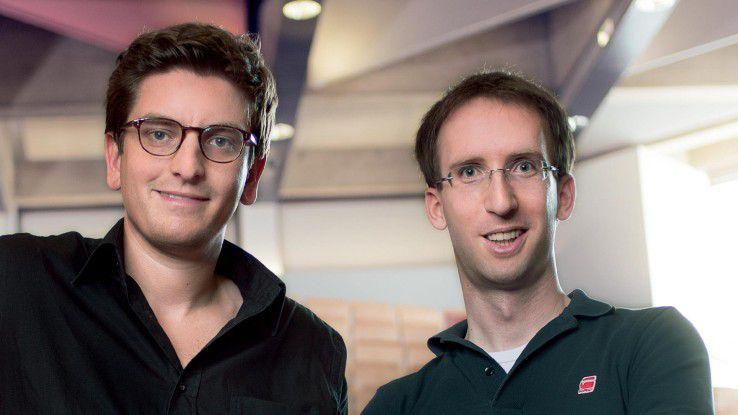 Julius Dücker (links) und Sven Hoberock gründeten als Studenten das mittlerweile wahrscheinlich größte deutsche Online-Lernportal examio.