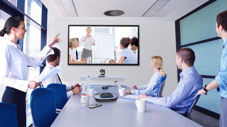 Logitech bringt mit der ConferenceCam CC3000e ein portables Videokonferenzsystem für Gruppen mit bis zu zehn Personen auf den Markt.