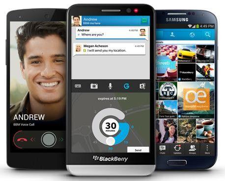 Der BBM steht für Android, iPhone und Blackberry zur Verfügung