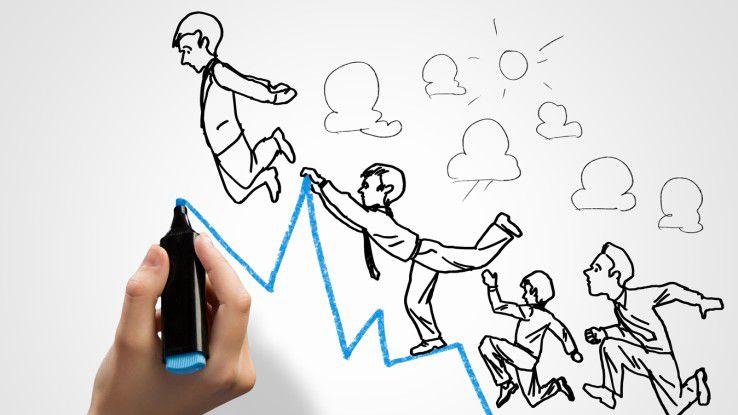 Für IT-Freelancer wird es auch in Zukunft steil bergauf gehen.