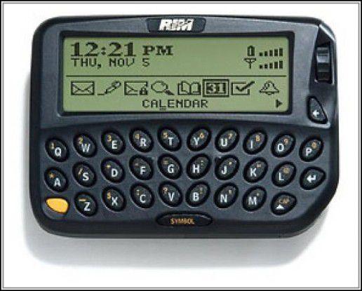 Mit dem Blackberry 850 begann die Ära der mobilen E-Mail.